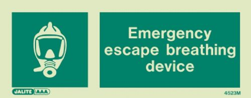 Jalite Emergency Escape Breathing Device Sign (4523)